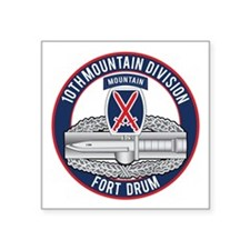 "10th Mountain CAB Square Sticker 3"" x 3"""