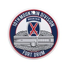10th Mountain CAB Ornament (Round)