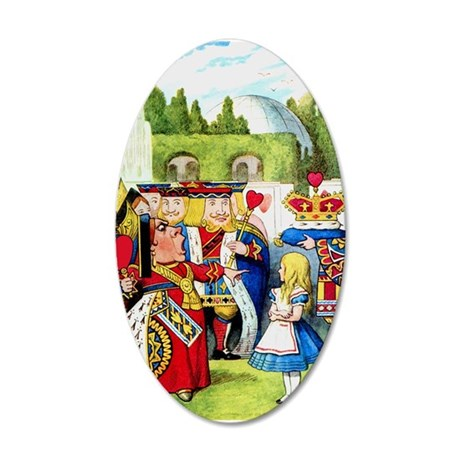 Alice and the Queen of Hearts 35x21 Oval Wall Deca
