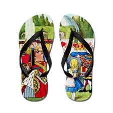 Alice and the Queen of Hearts Flip Flops
