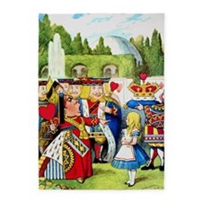 Alice and the Queen of Hearts 5'x7'Area Rug