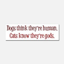 Dogs and Cats Car Magnet 10 x 3