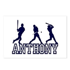 Baseball Anthony Personalized Postcards (Package o