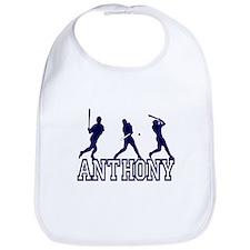 Baseball Anthony Personalized Bib