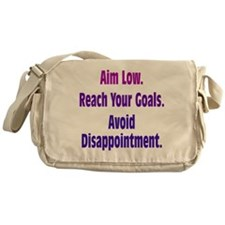 Avoid Disappointment Messenger Bag