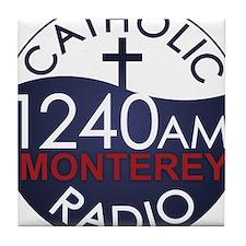 Catholic Radio Logo Tile Coaster