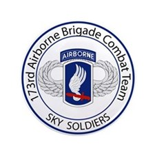 """173rd Airborne Sky Soldiers 3.5"""" Button"""