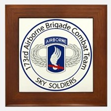 173rd Airborne Sky Soldiers Framed Tile