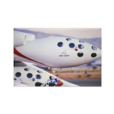 White Knight/SpaceShipOne Rectangle Magnet