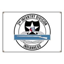 2nd ID CIB Indianhead Banner