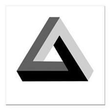 "Impossible Triangle Square Car Magnet 3"" x 3"""