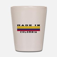 Colombia Made In Shot Glass