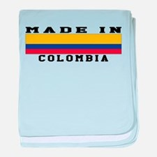 Colombia Made In baby blanket