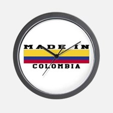 Colombia Made In Wall Clock