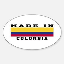 Colombia Made In Decal