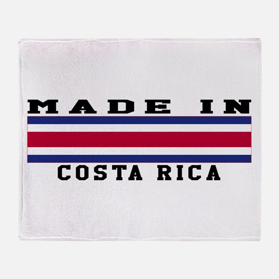Costa Rica Made In Throw Blanket