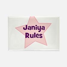 Janiya Rules Rectangle Magnet