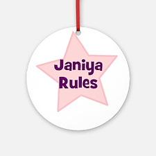 Janiya Rules Ornament (Round)