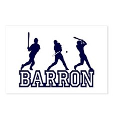 Baseball Barron Personalized Postcards (Package of