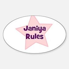 Janiya Rules Oval Decal