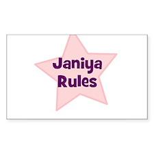 Janiya Rules Rectangle Decal