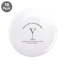 """Island Slackers Martini Happy Hour 3.5"""" Button (10"""