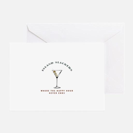 Island Slackers Martini Happy Hour Greeting Card
