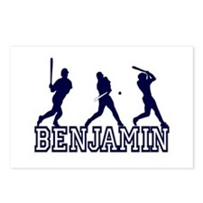 Baseball Benjamin Personalized Postcards (Package