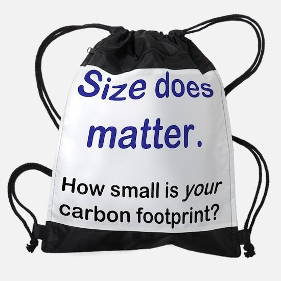 size matters   carbon footprint.png Drawstring Bag