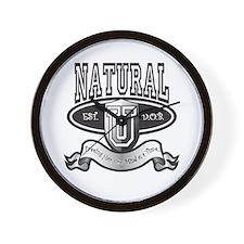NaturalUBlk8x5 Wall Clock