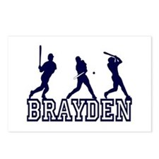 Baseball Brayden Personalized Postcards (Package o