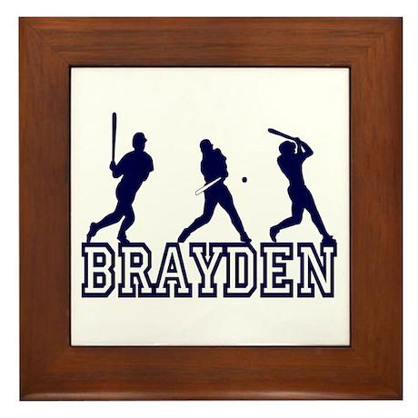 Baseball Brayden Personalized Framed Tile