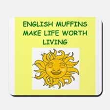 english muffins Mousepad