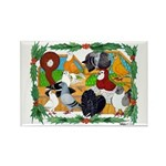 Christmas Pigeons Rectangle Magnet (10 pack)
