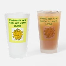 corned beef hash Drinking Glass