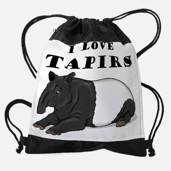 tapir8x10.jpg Drawstring Bag