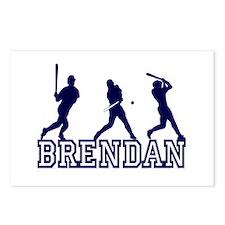Baseball Brendan Personalized Postcards (Package o