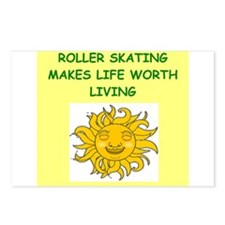 rollerskating Postcards (Package of 8)