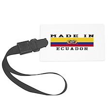 Ecuador Made In Luggage Tag