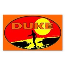 Duke Oval Decal