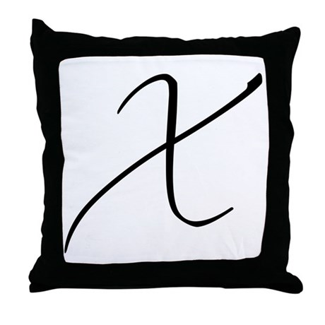 Cursive X's and O's Throw Pillow