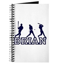 Baseball Brian Personalized Journal