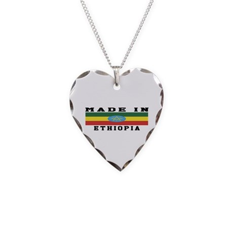 Ethiopia Made In Necklace Heart Charm