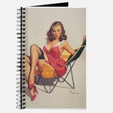 Classic Elvgren 1950s Vintage Pin Up Girl Journal