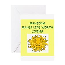 mahjong Greeting Card