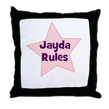 Jayda Rules Throw Pillow