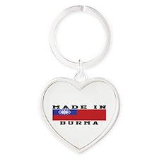 Burma Made In Heart Keychain