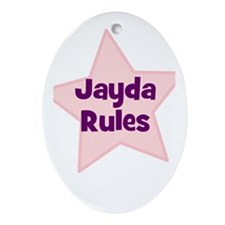 Jayda Rules Oval Ornament