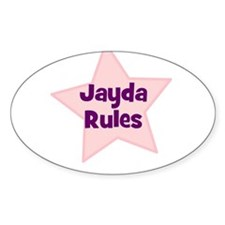 Jayda Rules Oval Decal