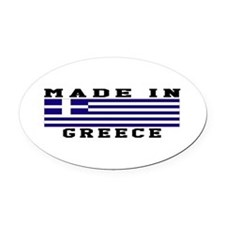 Greece Made In Oval Car Magnet